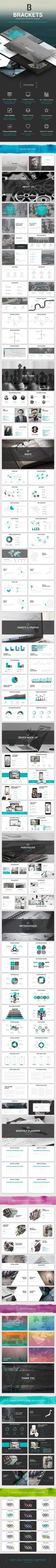 Powerpoint template designed with modern functionality to provide a clean, minimal, elegant and professional approach.  #infographic #animation #Powerpoint PPT • Click here to download ! http://graphicriver.net/item/brackets-multipurpose-powerpoint-template/16083237?ref=pxcr