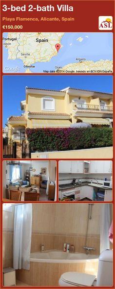 3-bed 2-bath Villa in Playa Flamenca, Alicante, Spain ►€150,000 #PropertyForSaleInSpain