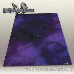 Forge Mats: Deep Space - space themed gaming mat - 36w x 48l w/ 1/2 Inch Hex - Black