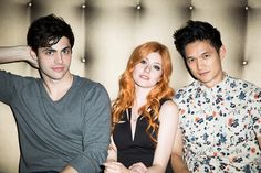 Matthew Daddario, Katherine McNamara and Harry Shum Jr #Shadowhunters