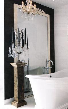 #Modern elegance in the #bathroom - www.remodelworks.com