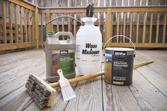 We used Behr Premium deck cleaner and stain