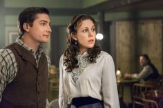 When Calls the Heart 1007                              Abigail decides to re-open an abandoned café, but must strike a risky deal with harsh businessman Henry Gowen.  Elizabeth and Jack misunderstand each other after Elizabeth's brief romance with a miner, leading them to start facing their feelings for each other. Photo: Daniel Lissing & Erin Krakow Credit: Copyright 2013 Crown Media United States, LLC/Photographer: Eike Schroter