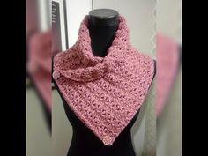 CUELLO FÁCIL A CROCHET - YouTube Crochet Granny, Irish Crochet, Crochet Shawl, Knit Crochet, Crochet Buttons, Crochet Gloves, Crochet Scarves, Stitch Patterns, Crochet Patterns