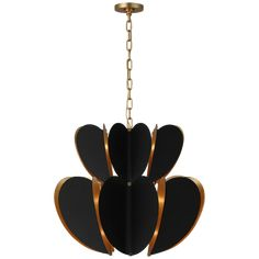 Danes Two Tier Chandelier in Matte Black and Gild