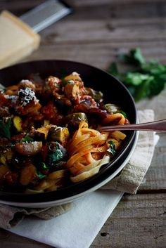 Roasted Ratatouille Pasta - Simply Delicious