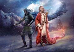 Slavic Mythology, Belobog and Chernobog by vasylina http://vasylina.deviantart.com/