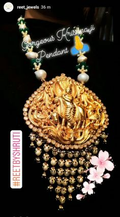 Gorgeous krishnaji pendant in polki and baroque pearls Gold Temple Jewellery, Baroque Pearls, Pendant, Jewelry, Jewels, Schmuck, Pendants, Jewerly, Jewelery