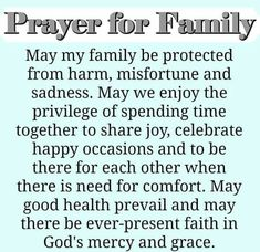 A family prayer faith prayer family quotes family prayers family blessings Prayer Scriptures, Bible Prayers, Faith Prayer, God Prayer, Thankful Prayers, Catholic Prayers Daily, Prayer Room, Grateful, Prayer For My Family