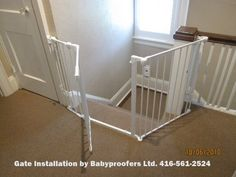 Baby Gate For Irregular Stair Opening. Staircase Gate, Top Of Stairs Gate,  Baby