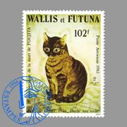 A cat painted by Foujita for a nice bit o' philately.