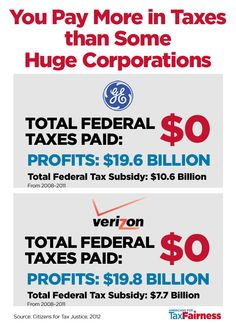 You Pay More in Taxes than Some Huge Corporations!