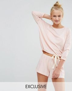 2ab876f55c Chelsea Peers Soft Peachy Tie-Waist PJ Short Set at asos.com