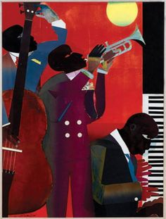 Romare Bearden: Up at Minton's, 1980