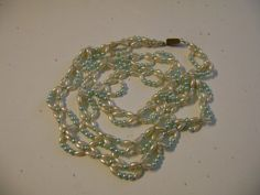Freshwater Pearl Necklace White with Light by vintagerepublic1, $18.00