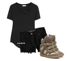 Untitled #1204 by elinaxblack on Polyvore featuring polyvore, fashion, style, Helmut Lang, American Eagle Outfitters and Isabel Marant