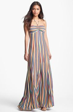 FELICITY & COCO Stripe Maxi Dress available at #Nordstrom LOVE the stripes are going to lengthen you.