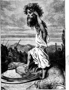 King David - Google Search David beheads Goliath with his own sword.