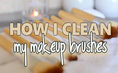 Here is a short tutorial how I clean my makeup brushes using - baby shamopoo. Hope it helpes you out!