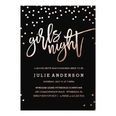 Girls Night Out / Bachelorette Party Invitation