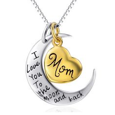 Cheap gift necklace, Buy Quality gift gifts directly from China gift girl Suppliers: Fashion 925 Sterling Silver Jewelry Golden Plated Heart Moon Letter Pendant Necklace Collier Mom Mother Women Girl Gift Family Necklace, Back Necklace, Love Necklace, Men Necklace, Letter Pendant Necklace, Letter Pendants, Gifts For Family, Gifts For Mom, Thing 1