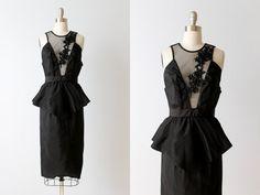 Vintage 1980s Dress / Black Cocktail Dress / by TheVintageMistress