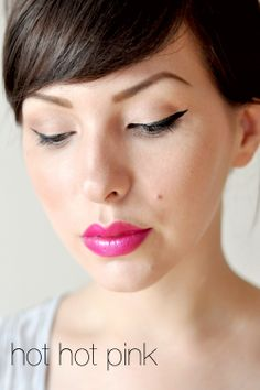 "Revlon ""Wild Orchid"" hot pink lips <3"