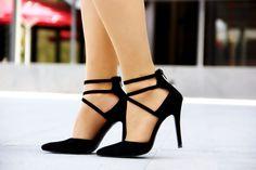 topuklu ayakkabı koton siyah topuklu ayakkabı modelleri ne giydim moda blog stil Sleeking Spring high heels