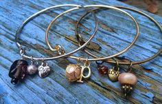 Customizable Alex and Ani Inspired Bangle Bracelet by zikkys