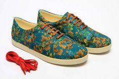 """Sneaker """"Sul"""" da coleção do artista brasileiro Caio Braz."""
