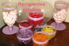 Cómo hacer recipientes de plástico para fiestas. DIY Party ideas containers