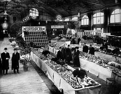 Fruit and flower stalls at the St. Lawrence Market, circa Image via City of Toronto Archives/Alexander W. Toronto City, Toronto Canada, Canada Eh, St Lawrence Market, Toronto Photos, Canadian History, Canadian Culture, The St, Landscape Photos