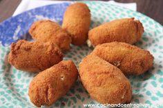 Cocinando entre Olivos: Croquetas de habas. Receta paso a paso.