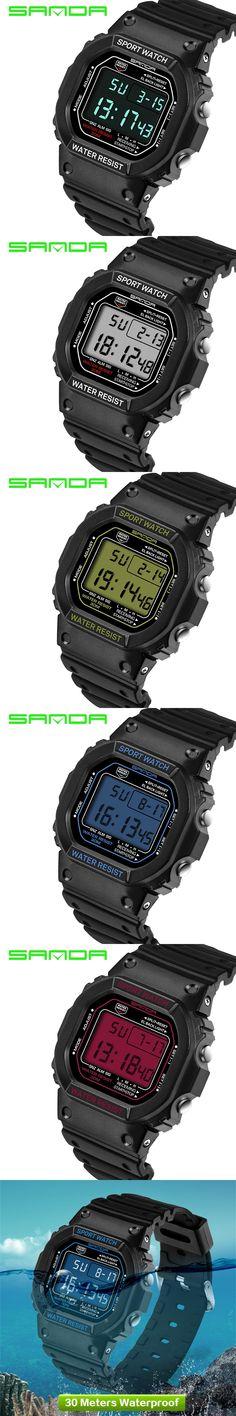 2017 new SANDA men's watches G-type digital watch S Shock men's military waterproof calendar LED sports watch relogio masculino