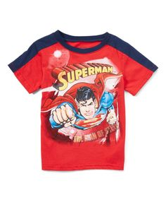 Red 'Superman' Tee - Toddler & Boys