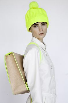ALBA PRAT'S NEON OLD SCHOOL COLLECTION  Looks like leah! I like the bag