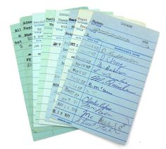 old library cards