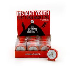 This working alarm clock is the ultimate birthday gift. Or at least it isa fun novelty gift for any celebration.Help turn back time for your friend or family