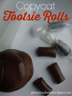 "Homemade Copycat ""Tootsie Rolls"" - great for the kids - it's like playdough they can eat!"