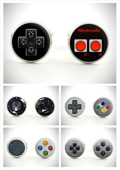 classic gaming controller-inspired cufflinks