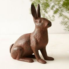 Iron Rabbit Doorstop
