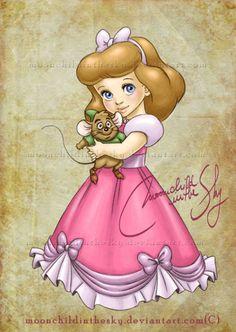 Cinderella as a young girl