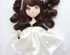 Cloth doll Karina, art doll, interior doll, pretty doll, modern doll, collectors doll, handmade doll, ooak doll, collectible art doll