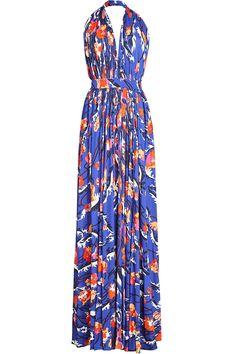 Emilio Pucci - Printed Maxi Dress with Silk