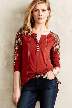 Edelweiss Tee - anthropologie.com: Pantone Color of the Year 2015 Marsala