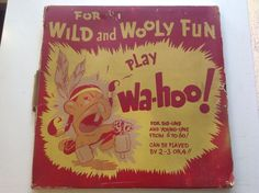 VINTAGE 50'S ZONDINE WAHOO MARBLE BOARD GAME WITH BOX INDIAN GRAFFICS
