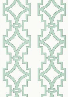 It comes in aqua.  Would go with pink tile or any travertine if you changed that out down the road.  (SONGYUE, Aqua, T36187, Collection Enchantment from Thibaut)