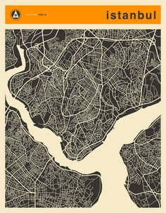 Poster   ISTANBUL MAP von Jazzberry Blue