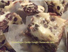 Butterfinger Cookie Dough Cheesecake Bars -  foodiessweetgoodies