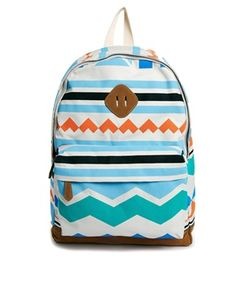 River Island Backpack in Geo-Tribal Print